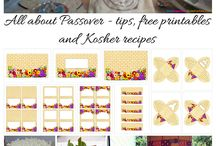 All about Passover / Tips, free printables, recipes and more
