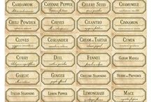 Herbs names / Printable