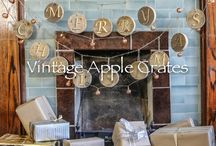 Apple Crate Christmas! / Our new range of Christmas decorations - all handmade using genuine apple crates and bins.
