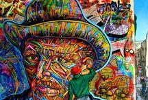 Arte para os olhos / Um mundo diferente e colorido.