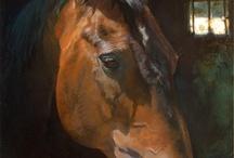 caballos en internet / pintura, dibujo