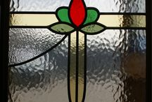Our Leadlights / Previous leadlights designed and made here at Knowsley Art Glass