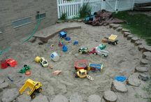 Outdoor play / setting up an outdoor pay space for the grands / by Tammy Lott