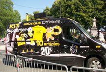 LE TOUR DE FRANCE A TOURS LE 12 JUILLET 2013 / Le village départ du Tour de France 2013 qui était situé place Anatole France, juste à côté du pont Wilson.