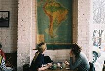 Cafe/bar ideas / menu items, decor, interior/exterior design ideas / by David Rodax