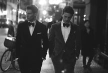 Men dressed well