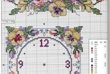 cross stitch clocks
