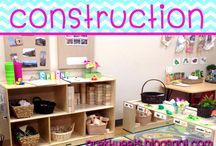 Construction / Construction center and block play organization. Ideas and resources for construction theme for pre-k and kindergarten.