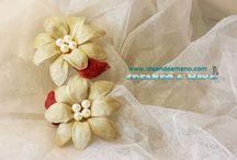 Vídeo tutoríal flor alambre y tela