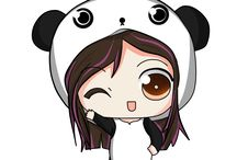 dibujos de panditas
