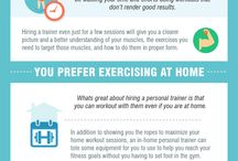Fitness Infographics / Infographics about fitness, training and working out.