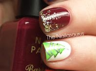 25 Favorite Christmas Nail Art Pins / I've been on a roll with  my own Christmas nail art, but obviously I had to get the inspiration from somewhere. As always, I turn to Pinterest for that! To kick off the Christmas week, let's enjoy 25 of my Favorite Christmas Nail Art Pins! / by Miss Niki