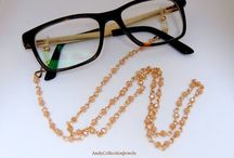 Eyeglasses beaded chain rosario holder's