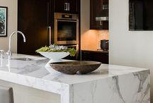 Calacatta Marble Kitchens and Baths / Kitchens with calacatta marble kitchen countertops.