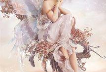 kadın melek çocuk resimleri