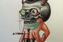 skull hand professor