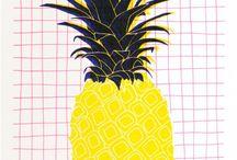 Tropical / Une collaboration entre Sergeant Paper et HelloMarine a donné naissance à cinq risographies aux couleurs acidulés pour fêter l'été.