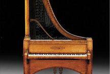 antique pianos / old antique workmanship
