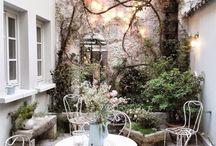 Schöner Gartenplatz