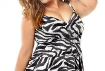 Black & White Trend Swimwear / The interesting black and white trend full figure swimsuits and separates I am finding starting 3/2014.