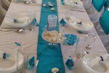 Esküvő vendég asztal deco.