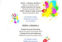 ateliers de septembre à décembre 2013