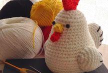 Amigurimi gallinas y pollos