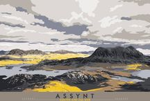Travel Scotland / Vintage style travel posters of Scotland by Stewart Bremner – available at Indy Prints