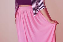 Maxi skirt outfits plus size