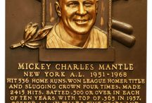 Mickey Mantle / My childhood hero, and I still remember him fondly in spite of his all too human flaws. / by Mary C. Downing