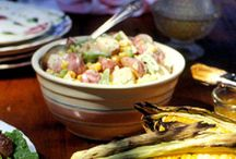 potato salad, no eggs / by Kathy Robinson Vollmer