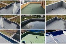 Flat roof/ Hidroizolatii terase / Seal the flat roof with membranes. Hidroizolatii la acoperisuri drepte tip terasa. Aplicarea este necesara pentru orice tip de suprafata deschisa in contact cu apa.