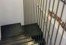 """Scala """"Verso"""" / In una nota libreria Milanese abbiamo appena ultimato una scala """"in minamal design"""" a 3 rampe in ferro al carbonio con lamiera 10mm e con la particolarità del tirante a sezione quadrata 10x10. Scopri tutte le nostre realizzazioni su www.interbaustairs.com"""