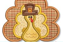 Thanksgiving / Sweet, Thanksgiving Applique and Embroidery Designs by www.lynniepinnie.com
