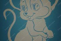 witraż myszka