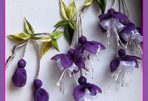 Цветы и банты из лент