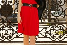 C'EST MA red ROBE / Les robes rouges disponibles sur www.cestmarobe.com  Our red dresses available on www.cestmarobe.com