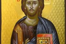Christ – Χριστὸς / Byzantine icons with Christ.  – Βυζαντινὲς εἰκόνες μὲ τὸν Χριστὸ. For more go to https://greekorthodoxicons.wordpress.com/christ/