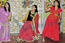 """Sangeet Ceremony / On of the attractive and interesting part of the marriage ceremony is """"sangeet"""". After sagan on every night till the wedding day, the relatives and friends get together for singing sessions both at the boy's as well as the girl's house. One day is fixed for special sangeet session which is attended and celebrated by both the sides together."""