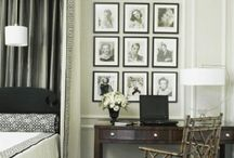 Bedrooms - white/cream and black