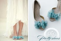 DIY Wedding Shoes {weddings.craftgossip.com} / Tutorials and inspirations for DIY Wedding Shoes.