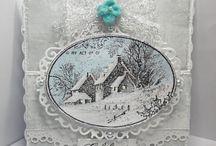 Snowy postcard