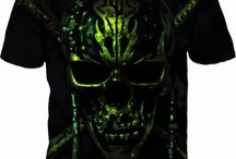 Dead Men Tell No Tales! GREEN SKULLY ON CHARCOAL GREY