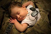 Newborn photo military family ideas