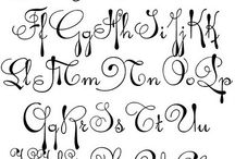 formas de letra (caligrafia)