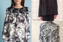 1 inspiration, 1 patron, 1 couture / Des inspirations de modèles, des patrons et les pas à pas pour mixer les 2