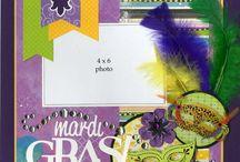 Mardi Gras Scrapbook