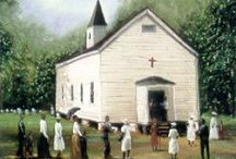 Black Church Art Print Collection