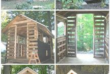 Pallets cubby house