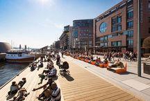 Stranden - The Waterfront Promenade / Postindustriální náplavka navržená studiem LINK landskap v Norském Oslu, je jednou z prvních částí snahy o oživení celého města… Jen tak dál!